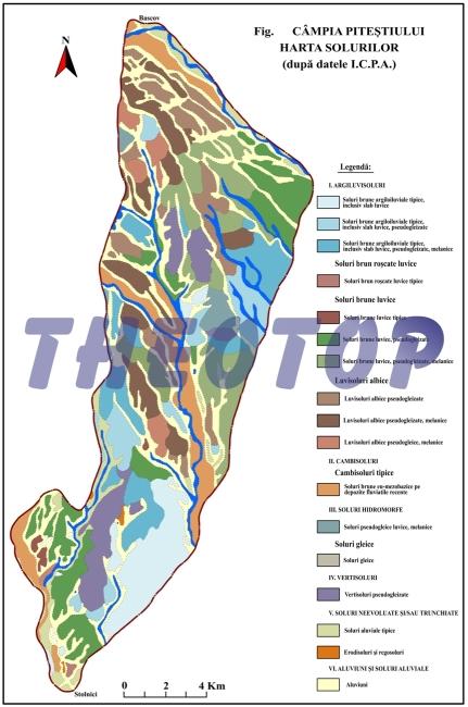 Harta solurilor: Câmpia Piteștiului