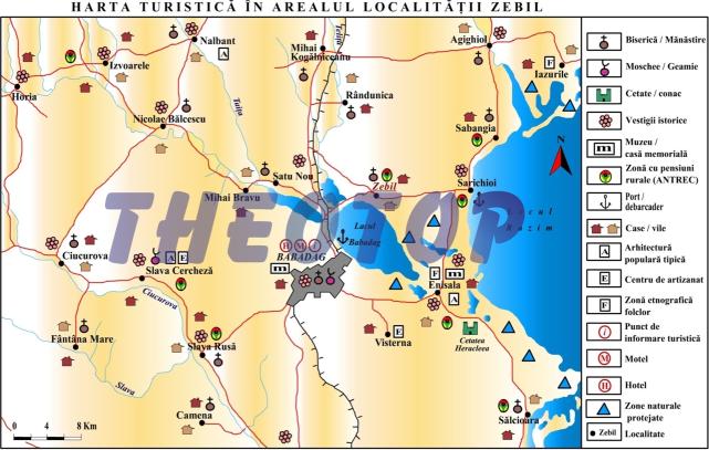 Harta turistică: Orașul Zebil
