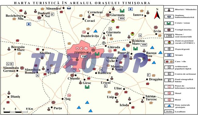 Harta turistică: Orașul Timișoara
