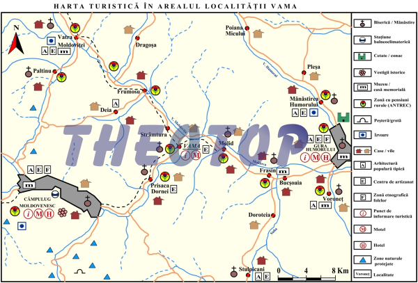 Harta turistică: Orașul Vama