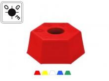 Bornă Plastic Hexagonală -115x50mm [roșu] {OGE}