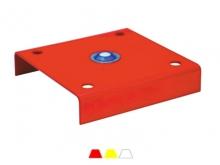 Bornă Metalică Joasă -4 Ancore  -300x300mm [roșu]