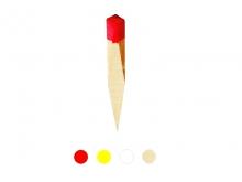 Țăruș lemn -35x35x350mm [roșu]