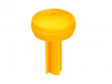 Bușon de Plastic Rotund -50mm [galben]