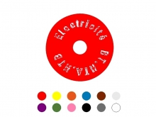 Identification Disk - 25mm [red]