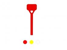 Reper Rectangular de Lotizare Mare pentru Tije Striate  [roșu]