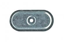 Plachetă din Oțel Nervurat -82x40mm [natural]