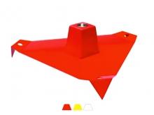 Bornă Metalică Mare -3 Ancore  -535x140mm [roșu]