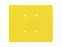 Etichetă din Plastic pentru Tijă -110x89mm  [galben]