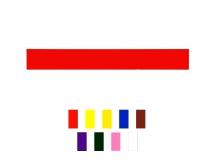 Bandă Plată din Aluminiu -50x380mm  [roșu]
