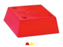 Bornă Polyroc FENOBLOC -4 Ancore  -300x300x110mm [roșu]