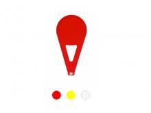 Reper Standard de Lotizare pentru Tije Striate  [galben]