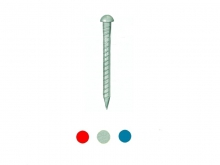 Pichet Metalic Striat cu Cap Bombat -200mm   [albastru]
